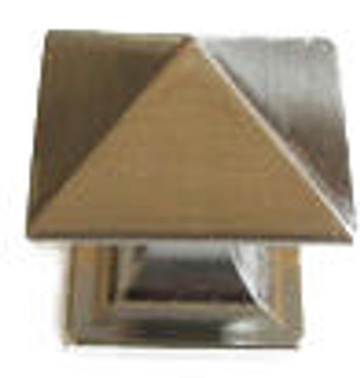 Hardware House 1 1/4-in Square Art Knob, Satin Nickel