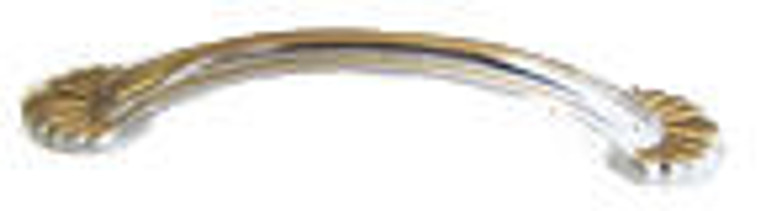 Hardware House 3.78-in Bead Floral Pull, Satin Nickel