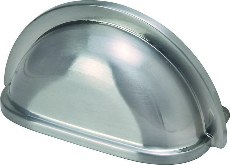 Hardware House 3-in Cabinet Cup Pull, Satin Nickel