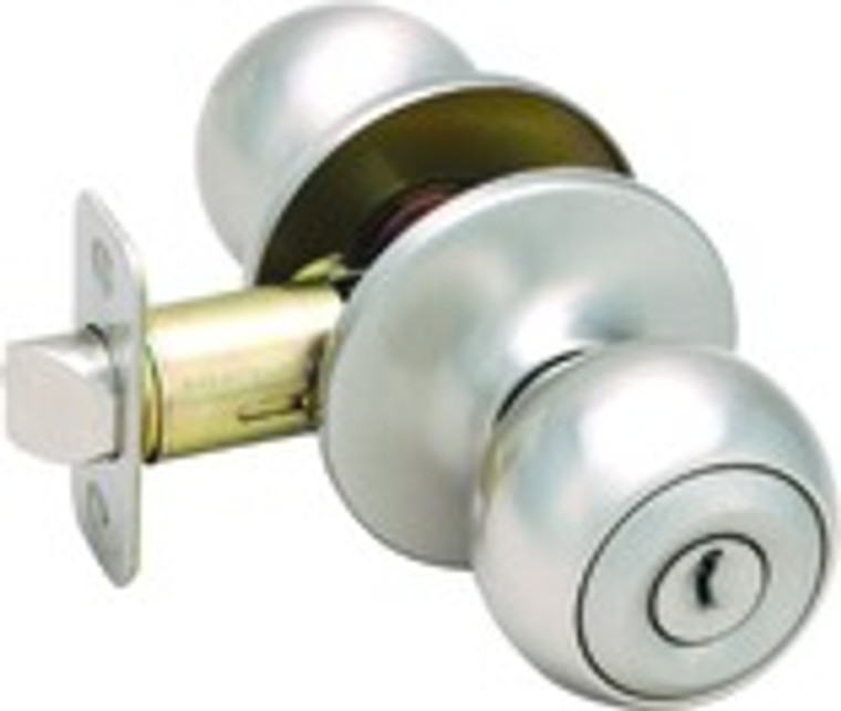 Helena Knob Entry Dorr Handle, Satin Nickel