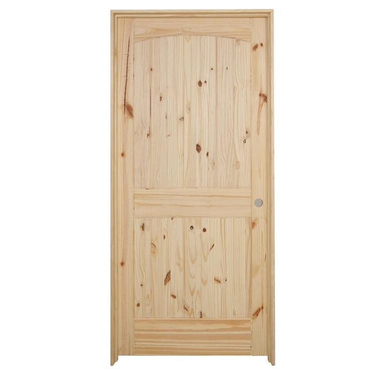 36 in x 80 in Cheyenne Knotty Pine Solid Core Prehung Interior Door