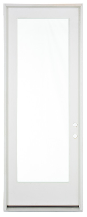"""3'0""""x8'0"""" Primed Fiberglass Full Clear Exterior Door"""