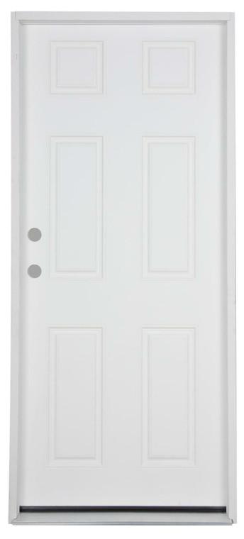 32 in x 74 in 6 Panel Mobile Home Size Prehung Fiberglass Door