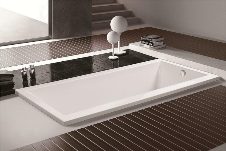 Olympia Acrylic Drop-In Bathtub in White or 63
