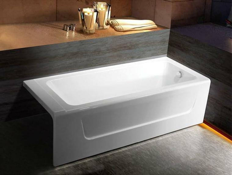 Aviva Acrylic Skirted Bathtub in White or 63