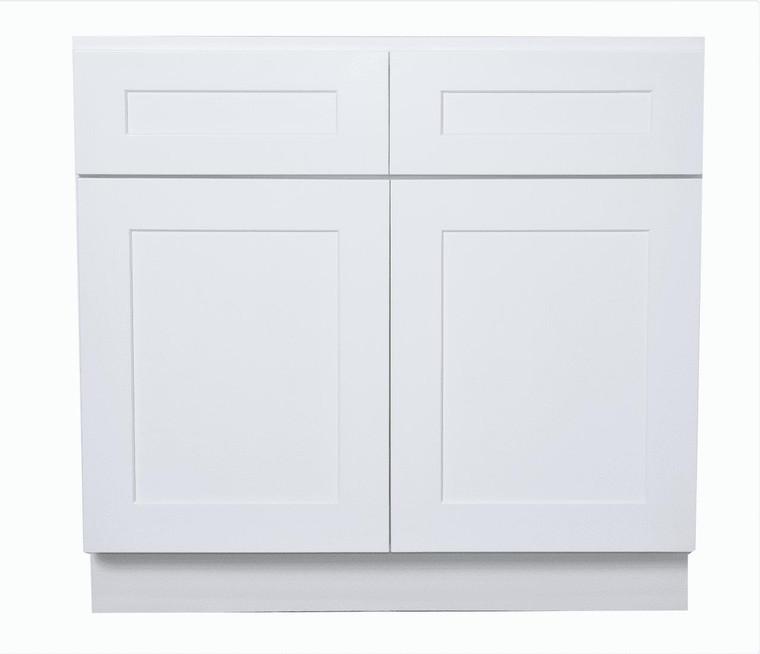 White Shaker Maple Sink Base Kitchen Cabinet
