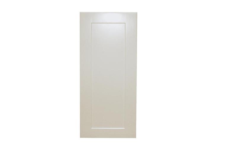 White Shaker Maple Single Door Wall Cabinet