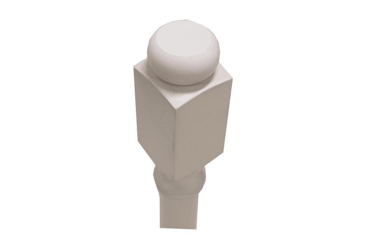 Round White Shaker Maple Decorative Leg