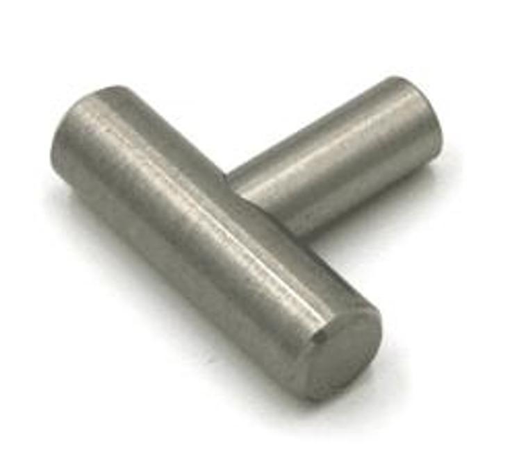 Round Cabinet Knob in Satin Nickel - T