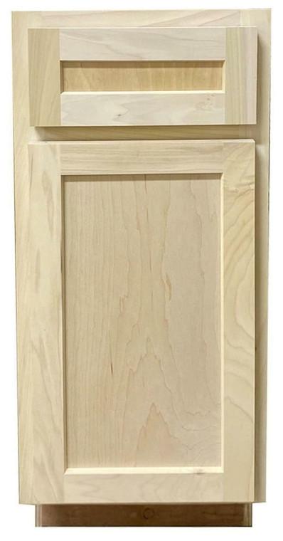 Kitchen Base Cabinet With Drawer Shaker Unfinished Poplar 21