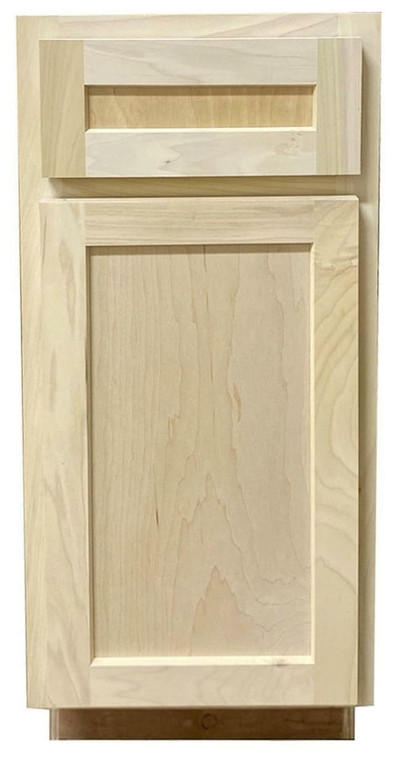 Kitchen Base Cabinet with Drawer or Shaker Style or Unfinished Poplar or 21 in