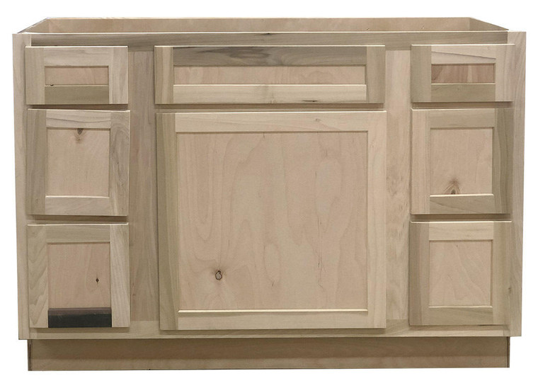 48 in Sink and Drawer Base Bathroom Vanity Cabinet in Unfinished Poplar or Shaker Style