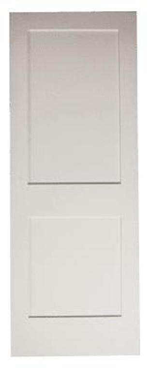 28 in x 80 in White Shaker 2-Panel Solid Core Primed MDF Interior Door Slab