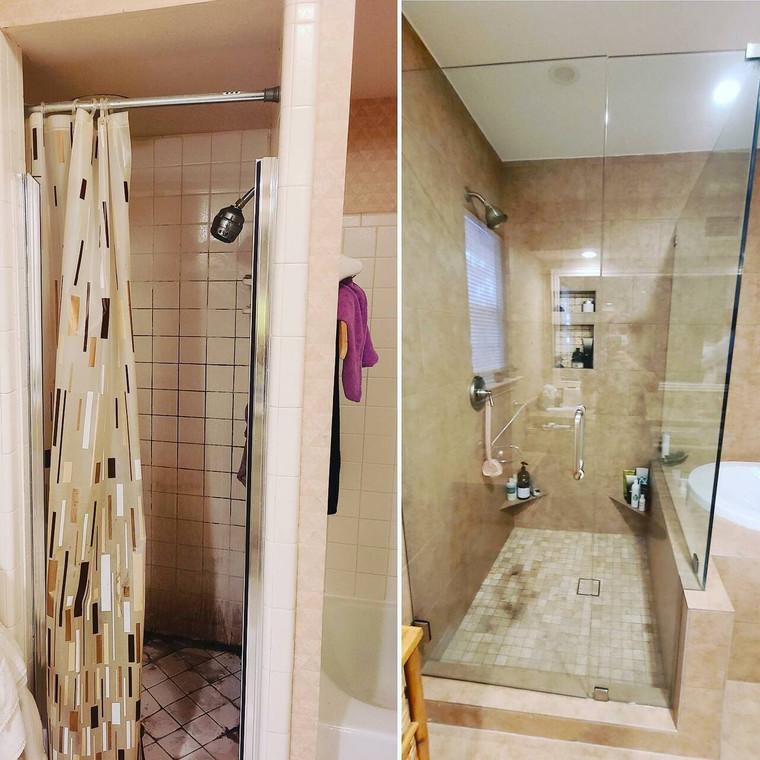 Complete Shower Remodel with A199 Porcelain Tile
