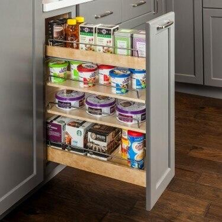No Wiggle 5 in Base Cabinet Pullout with Premium Soft-close Concealed Undermount Slides