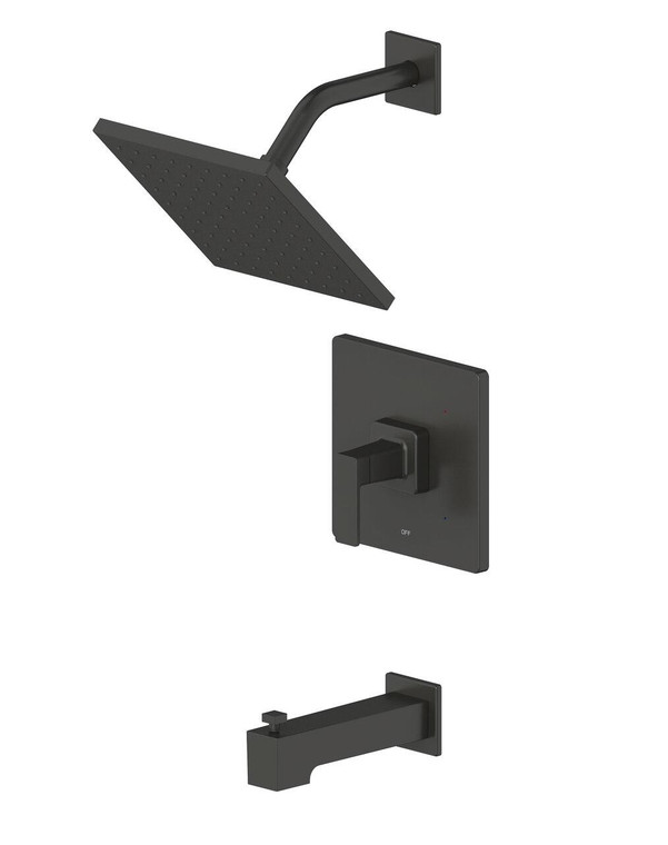 Ultra Faucet Ultra Faucet Rift Tub and Shower Set In Black