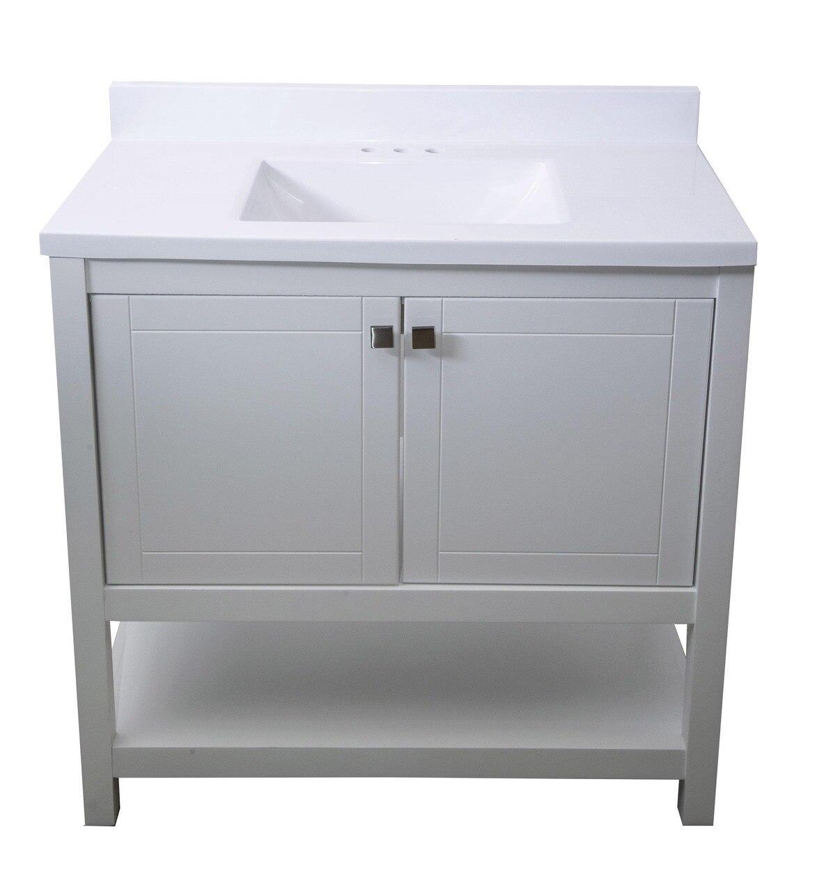 Trento 36 In Single Sink Bathroom Vanity In White