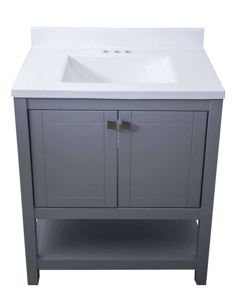 Trento 30 In Single Sink Bathroom Vanity In Grey