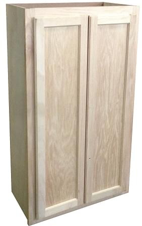 Wall Cabinet 24x30 Unfinished Oak Kitchen Cabinets