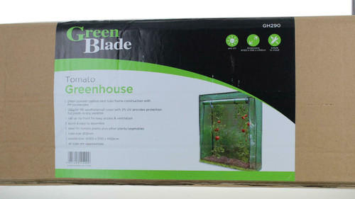 Tomato Greenhouse Frame and Reinforced PE Weather Cover Garden Vegetables Grow