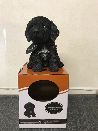 Vivid Arts Sitting Alsatian Puppy Pet Pal Indoor or Outdoor Use With Gift Box