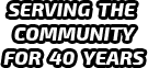 Serving The Community For 40 Years