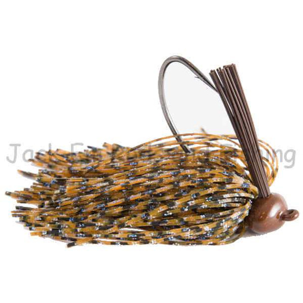 Jack-Em 1 Ounce Amber Candy Football Head Jig