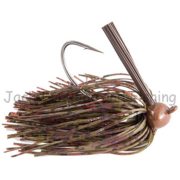 Jack-Em 3/8 Ounce Perfect Craw Purple Flake Football Head Jig