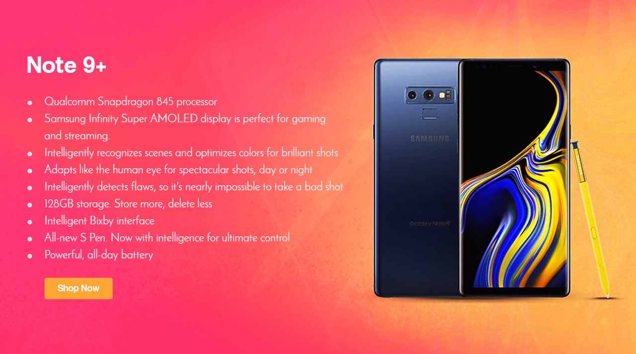 Samsung galaxy Note 9   Factory unlock