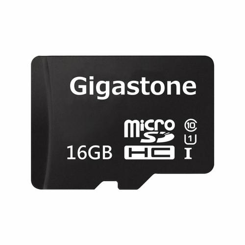 Gigastone Micro SD Card U1 Memory & SD Card Adapter 16GB