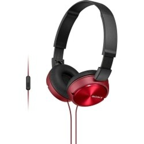 Sony ZX310 Over Ear Headphones in Red