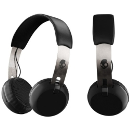 Skullcandy - Grind Bluetooth Headphones in Black/Chrome