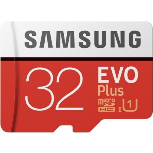 Samsung - MicroSDXC EVO Plus Memory Card w/ Adapter 32GB