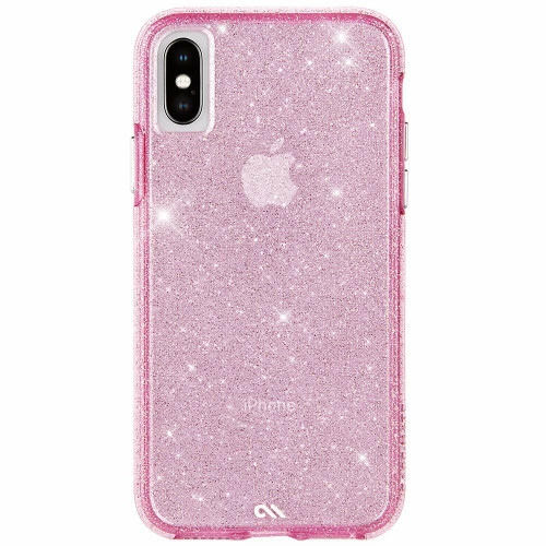 Case-Mate Sheer Crystal Case for iPhone XR, XS and XS MAX Pink Crystal