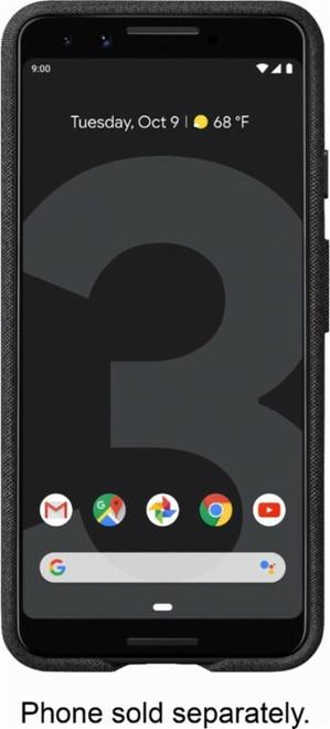 Google - Fabric Case for Google Pixel 3 black