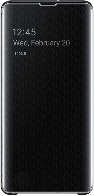 Samsung Galaxy S10 Clear View Stand Cover Case Black EF-ZG975CBEGUS