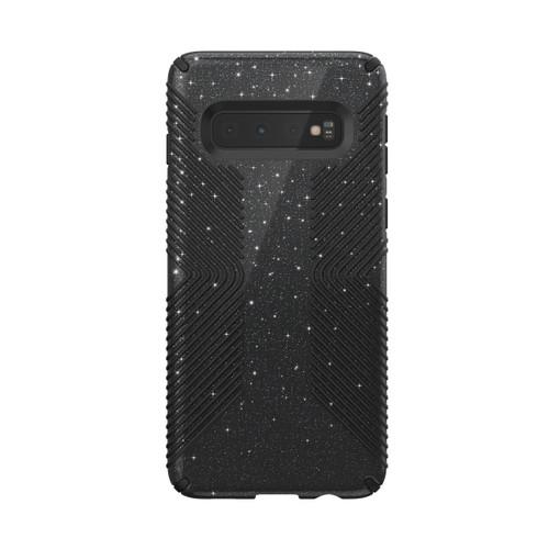 Speck Presidio Grip Glitter Galaxy S10/S10+/S10e in Black/Silver