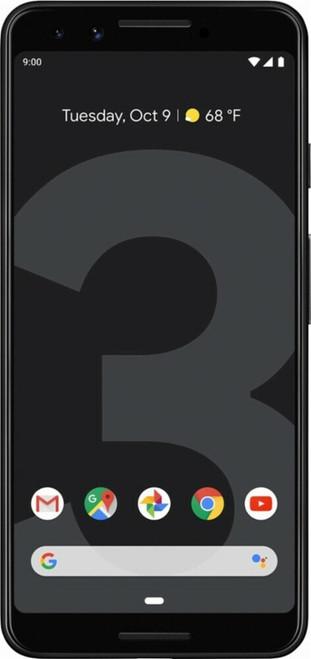 Google Pixel 3 Front Black color