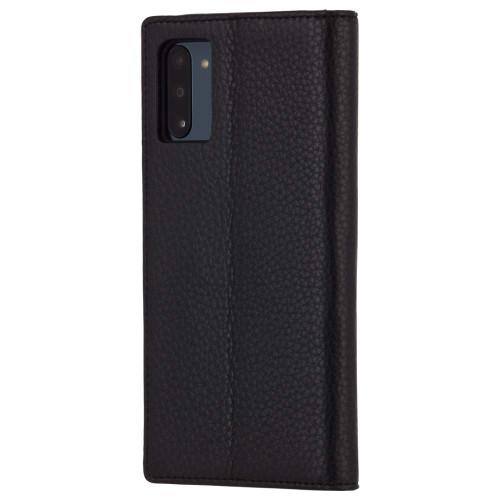 "Case-Mate - Samsung Galaxy Note 10 Case - Wallet Folio - 6.3"" - Black Leather CM039774"