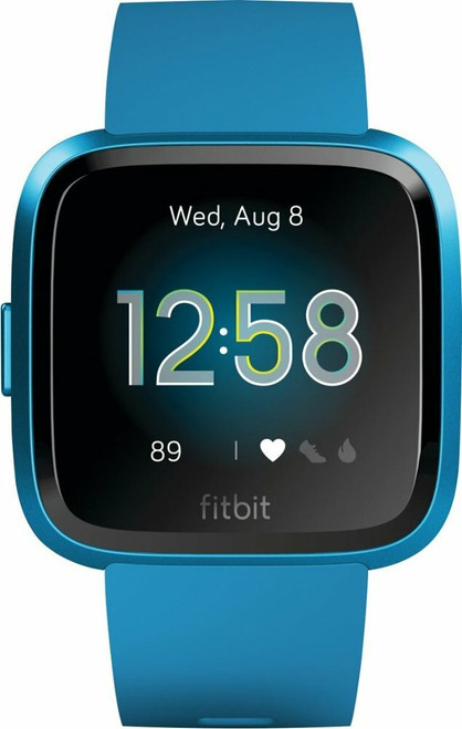 Fitbit - Versa Lite Edition Smartwatch -Marina Blue - Silicone band with buckle