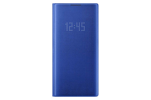 Samsung Galaxy Note10+ Case, LED Wallet Cover - Blue EF-NN975PLEGUS