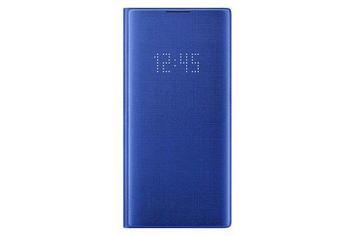 Samsung Galaxy Note10+ Case, LED Wallet Cover - Blue EF-NN975PLEGUS