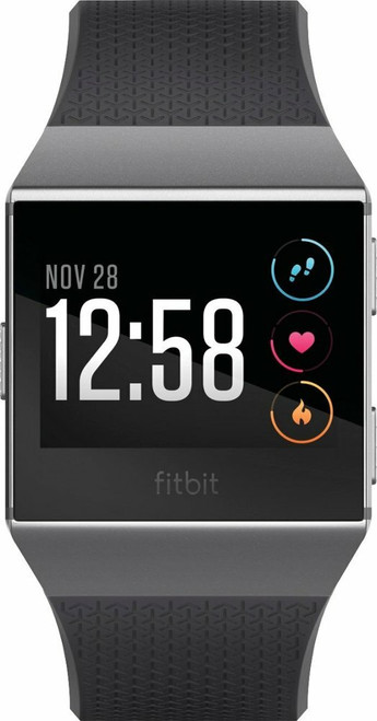 Fitbit - Ionic Smartwatch in Charcoal/smoke gray