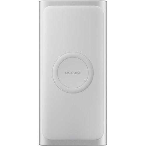 Samsung 10,000mAh Cargador inalámbrico Batería portátil Plata EB-U1200CSELUS