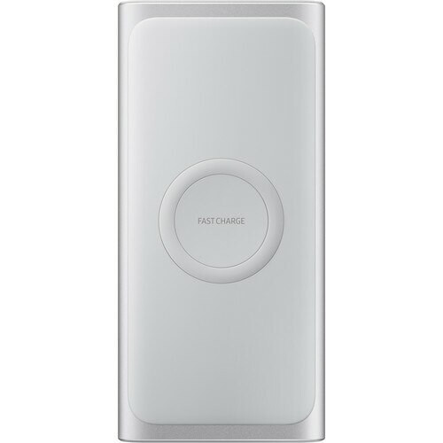 Samsung 10,000mAh Wireless Charger Portable Battery Silver EB-U1200CSELUS