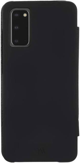 Case-Mate - Samsung Galaxy S20 - LEATHER WALLET FOLIO - Holds 4 Cards + Cash - Black Leather