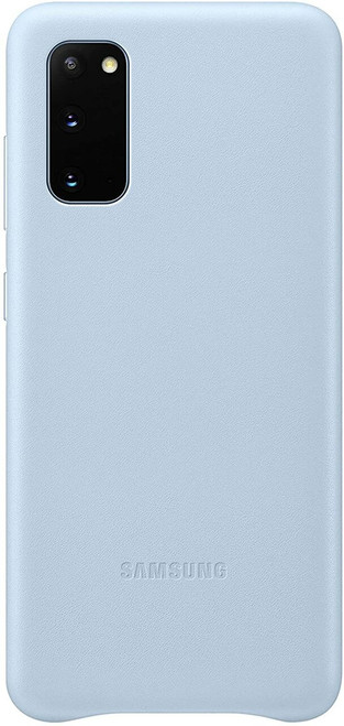 Samsung Galaxy S20+ Case, Leather Back Cover Ice Blue