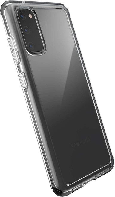 Speck - Presidio Perfect Clear Case for Samsung Galaxy S20 5G - Clear/Clear
