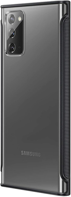 Samsung Galaxy Note20 5G Case, Clear Protective Cover - Black