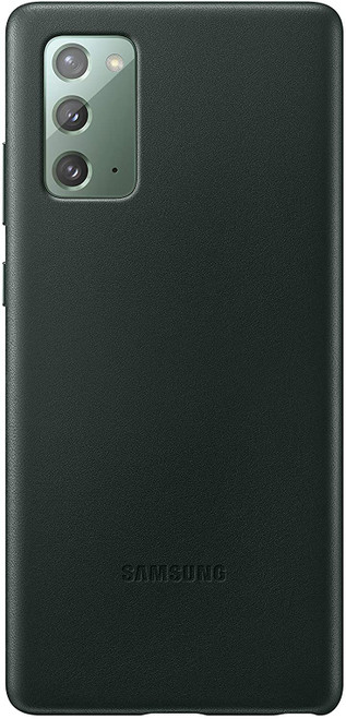 Samsung Galaxy Note20 5G Case, Leather Back Cover - Green